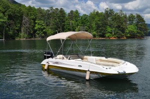 20' Boat w/Bimini Top